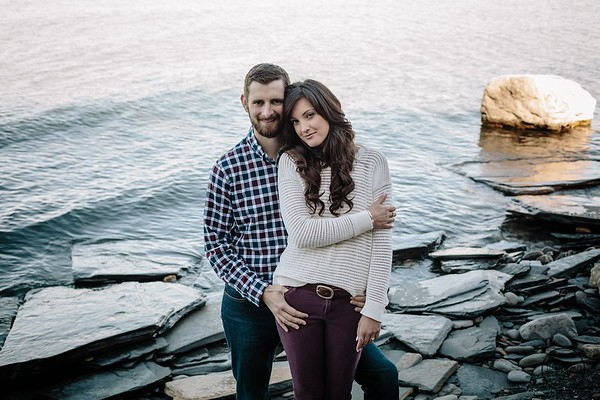 Jessica & Todd | Lake Erie Engagement Social