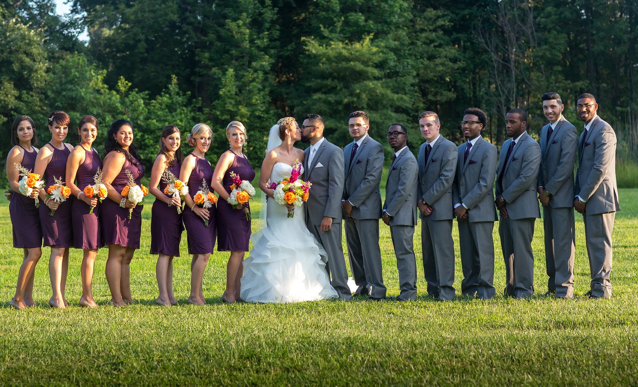 The bridal party!