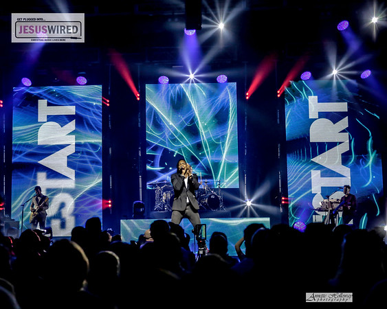 Michael Tait singing Restart - Newsboys United Tour in New Bern NC 4-13-18 by Annette Holloway Photography