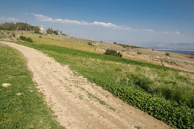 The trail up to the Mount of Beatitudes