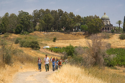 Hiking down from the Mt. of Beatitudes