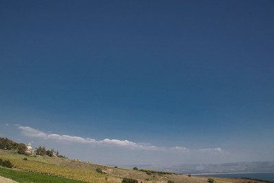 Mount of Beatitudes and the Sea of Galilee