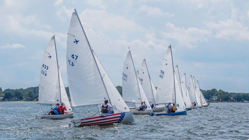 Jet-14 Start on the Severn - 2019 Nationals