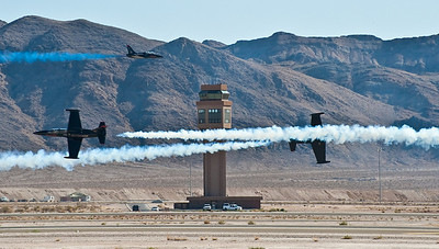 Patriot demonstration team. Their ride is the L-39 jet trainer. And they put on quite a show.