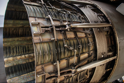 B-1 Lancer. Engine detail.