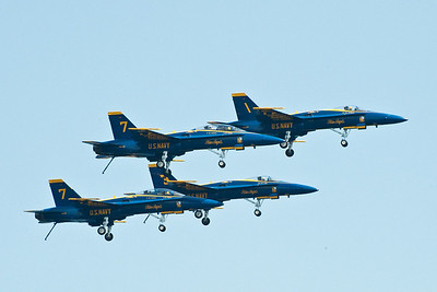 For the record, there were two Blue angels with the number 7. Normally Blue Angels numbering 1 - 6 fly their program. They bring spares with them in case of mechanical trouble and the flew them both on Friday during the show this year. For the record ... THIS ISN'T PHOTOSHOP.