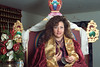 Jetsunma Ahkön Lhamo, on her throne, by Ani Dawa in 1991