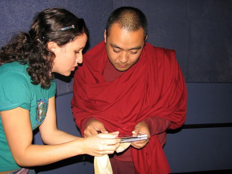 Tara presents Jetsunma's music to  Chokling Rinpoche