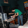 Yeshe Dorje setting up the studio
