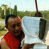 TK-45-12 Ven Gyatrul Rinpoche carries the kapala inside, by Ted Kurkowski