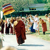 WM-84-14 HH Penor Rinpoche approaching the temple, by Wib Middleton