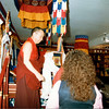 TK-45-16 Jetsunma and Lama Jampa listen to Ven. Gyatrul Rinpoche and Holiness describe the kapala, by Ted Kurkowski.