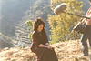 Jetsunma Ahkon Lhamo, preparing for an interview at Maratika, Nepal, by Wib Middleton