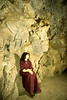 Jetsunma Ahkon Lhamo in lower Maratika cave - by Mannie Garcia