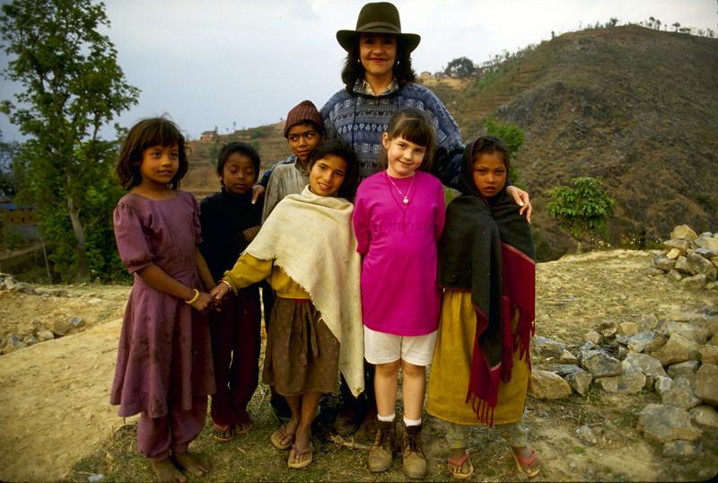 Jetsunma Ahkon Lhamo and Maratika youth - by Mannie Garcia