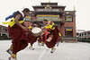 Monks perform Lama Dance at Shechen Monastery, Kathmandu, Nepal, by Mannie Garcia
