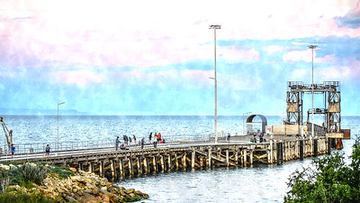 Jetty Water Colour Sketched
