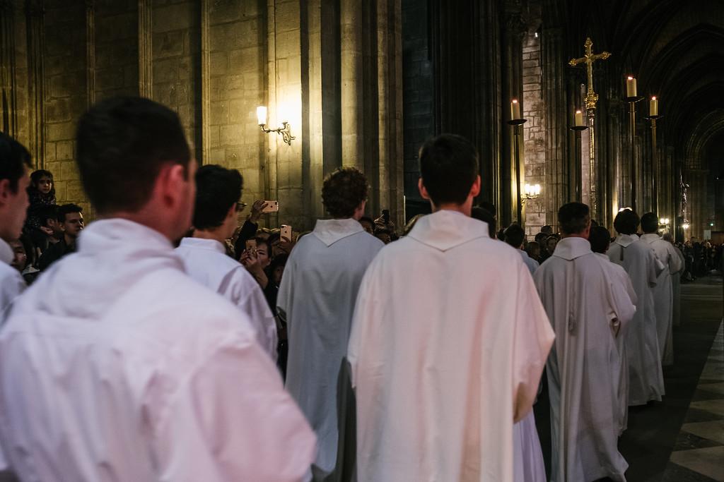 13-04-2017 à Paris, Messe du Jeudi saint à Notre-Dame.
