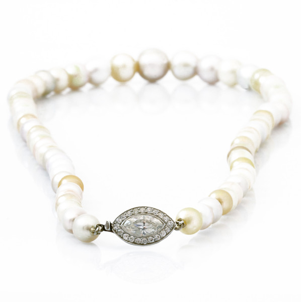 South Sea Pearl Necklace with Diamond Lock
