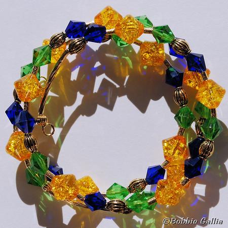 Mardi Gras Wraparound Bracelet, B0902-28