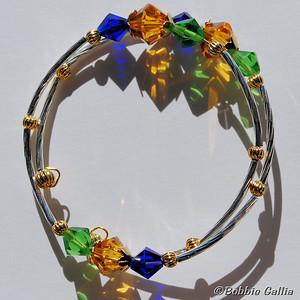 Mardi Gras Double Wrap Bracelet, B0902-30