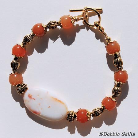 Sardonyx and Adventurine Bracelet, B0902-31