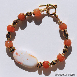 Sardonyx and Adventurine Bracelet, B0902-31