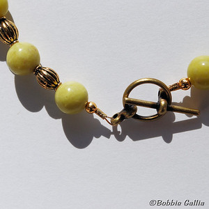 Peridot Jasper and Lampwork Bracelet, B0902-35