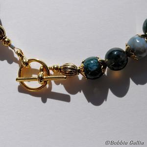 Moss Agate Bracelet, B0902-36