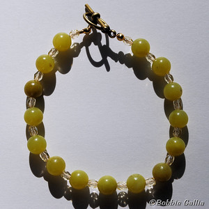 Olive Jade Bracelet, B0902-37