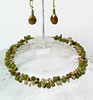 "#26512 <br>Olive jade, picture jasper and smokey glass. <br>Gold plated clasp and 4"" extender chain.<br> Alice Bailey Designs signature tag.<br> Necklace 15 1/2"" to 19 1/2"" Limited Edition $135.00<br>Earrings with gold plated French clips $27.00"
