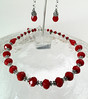 "#18014 <br>Red velvet crystal and pewter.<br> Silver plated clasp and 4"" extender chain.<br>Alice Bailey Designs signature tag. <br>Necklace 16"" to 20"" Limited Edition $95.00<br>Earrings with silver plated French clips $25.00"