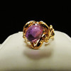 Amethyst Ring Modernist Gold Mount