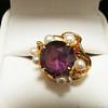 Amethyst Pearl Gold Ring