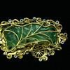 Vintage, Estate, Chinese, Figural Jade Carving, Diamond Pendant,<br /> Gold,Aloha Memorabilia Company, Pixiu, Pi Yao,