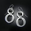 BRDC 2011 2CS Large and small Times circle earrings on jumping wire
