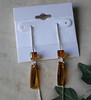 """Genuine Swarovski crystals, crystal copper. 5"""" adjustable-length sterling silver threader earwires. You can also take the cubes off and wear the long drops all by themselves.<br /> (e3966b)"""