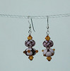 "Handcrafted lampwork glass beads, genuine Swarovski crytals, sterling silver. 2"" long. <br /> (e3631b)"