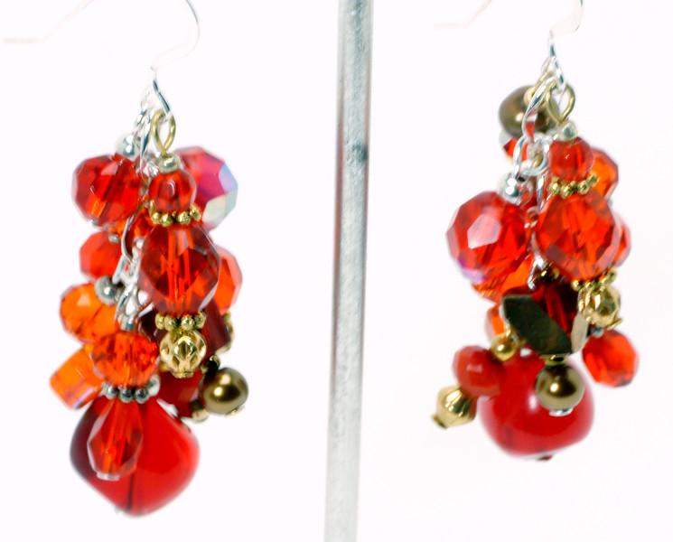 #ME2013<br>Red crystal <br>Grape cluster earrings. <br>$55.00