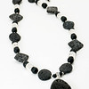 "#12619<br>Lava rock and pewter. <br>Nite black clasp and 3.5"" extender chain.<br>25"" to 28"" Limited Edition.<br>Necklace $95.00"