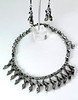 "#28813 <br>Pewter and metallic crystal. <br>Gunmetal clasp and 4"" extender chain. <br>Alice Bailey Designs signature tag. <br>Necklace 15.5"" to 19.5"" Limited Edition. $75.00<br>Earrings with gunmetal French clips $25.00"