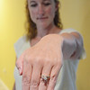 Marlow Morgan, 39, of Lunenburg, lost her wedding ring over the weekend and found it via a friend's Facebook post. SENTINEL & ENTERPRISE / Ashley Green