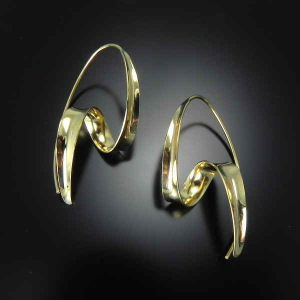 Earring GRH-E611V in 23k vermeil by Gerhard Herbst. Available at Smith Galleries on Hilton Head Island, SC. Gallery hours are 10-6 Monday through Saturday. 800.272.3870