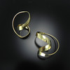 Earring GRH-E518V in 23k vermeil by Gerhard Herbst. Available at Smith Galleries on Hilton Head Island, SC. Gallery hours are 10-6 Monday through Saturday. 800.272.3870