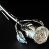 Handmade sterling silver rose pin.
