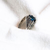 Sterling Silver Ring with London Blue Topaz