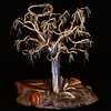 Silver Tree rooted among polished petrified wood
