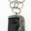 "#15119<br>Black onyx and hematite face<br>On gunmetal chain.<br>36"" One-of-a-kind.<br>$95.00"