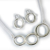 Necklace PRON11711S and Earring PROE11702S both in brushed sterling