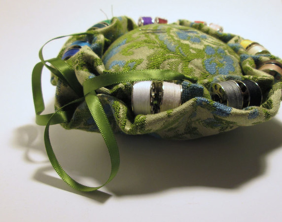 Tapestry Pin Cushion $45